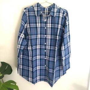Woman Within plus size plaid button down shirt